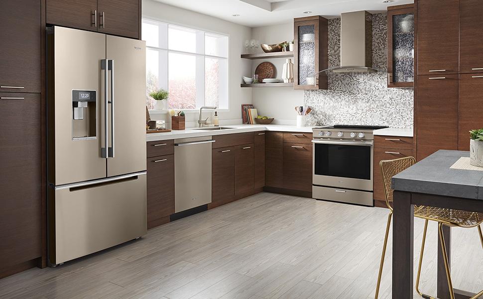 Whirlpool Sunset Bronze Appliances in Kitchen