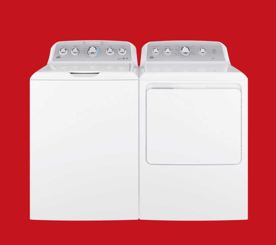 white GE laundry pair