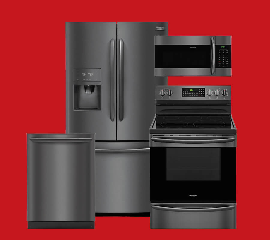 Frigidaire Black Stainless Steel Kitchen Appliances