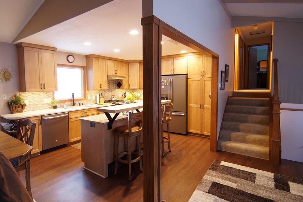 kitchen with wide doorways